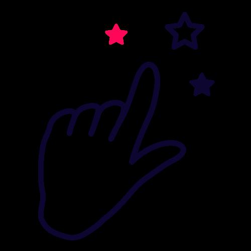 Finger pointing web alchemy