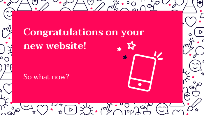 Congratulation on your new website!